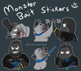 Monsterbait sticker set