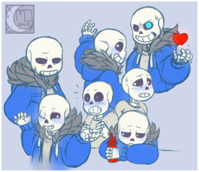 Fan Art- Sans's everywhere
