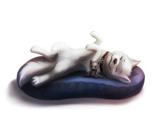[Commission] Sleeping Akita
