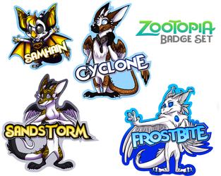 Zootopia Badge Set (MCFC 2016)