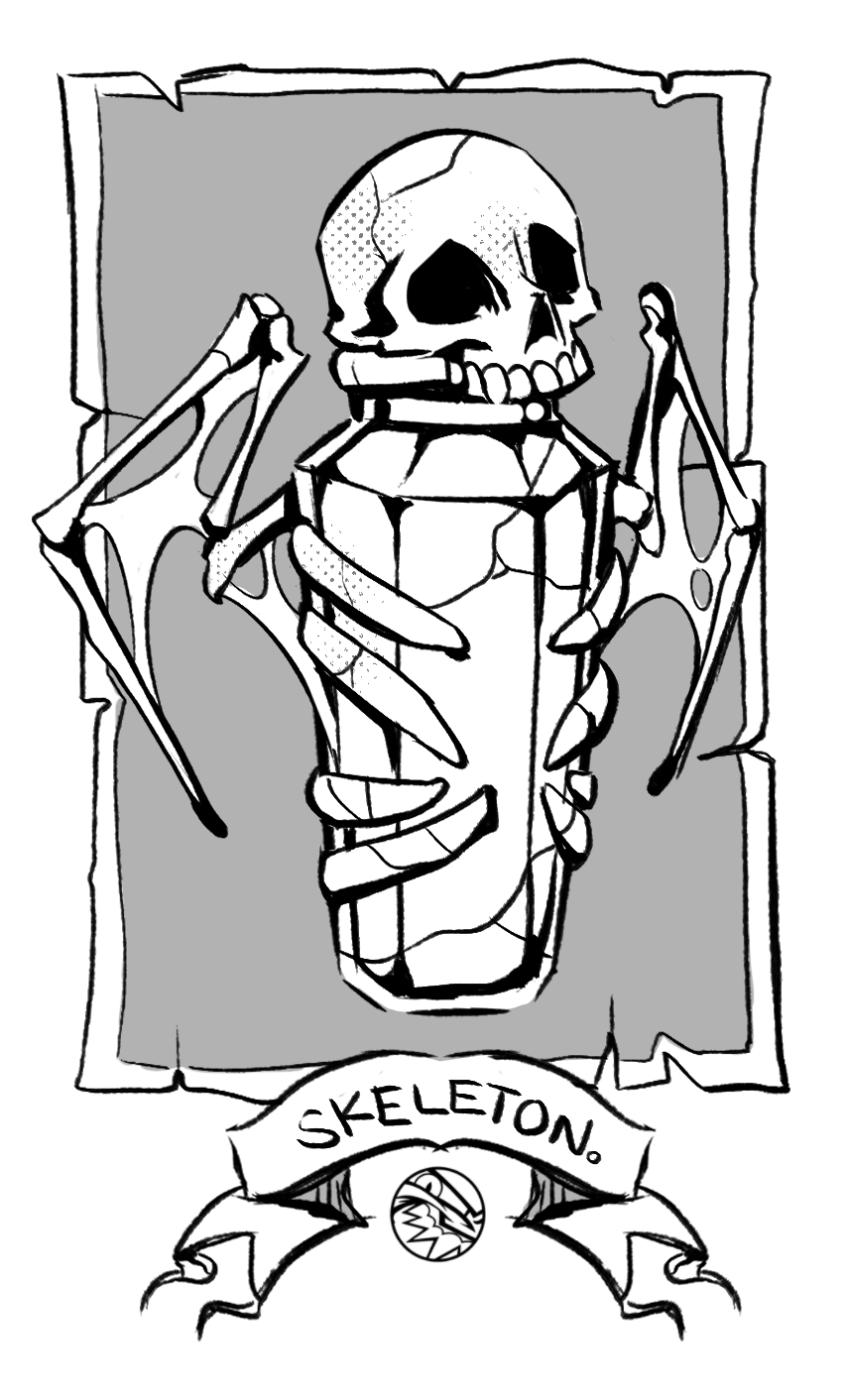 HALLOWEEN | Skeleton Vial | FEARDAKEZ