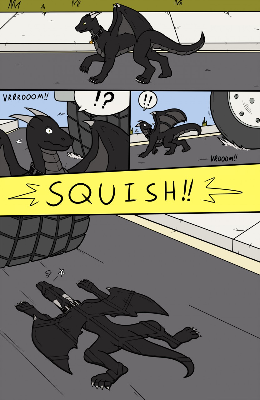 """Com: """"Watch out for Tiny Dragons on the Road..."""" - Page 1"""