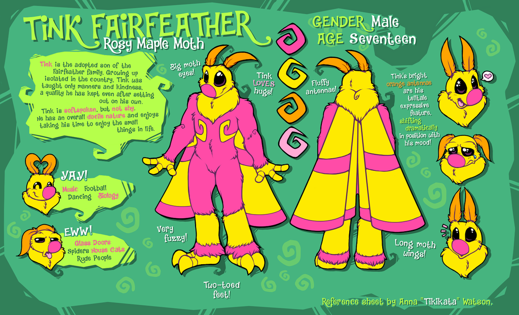 Tink Fairfeather - Reference Sheet (Commission)