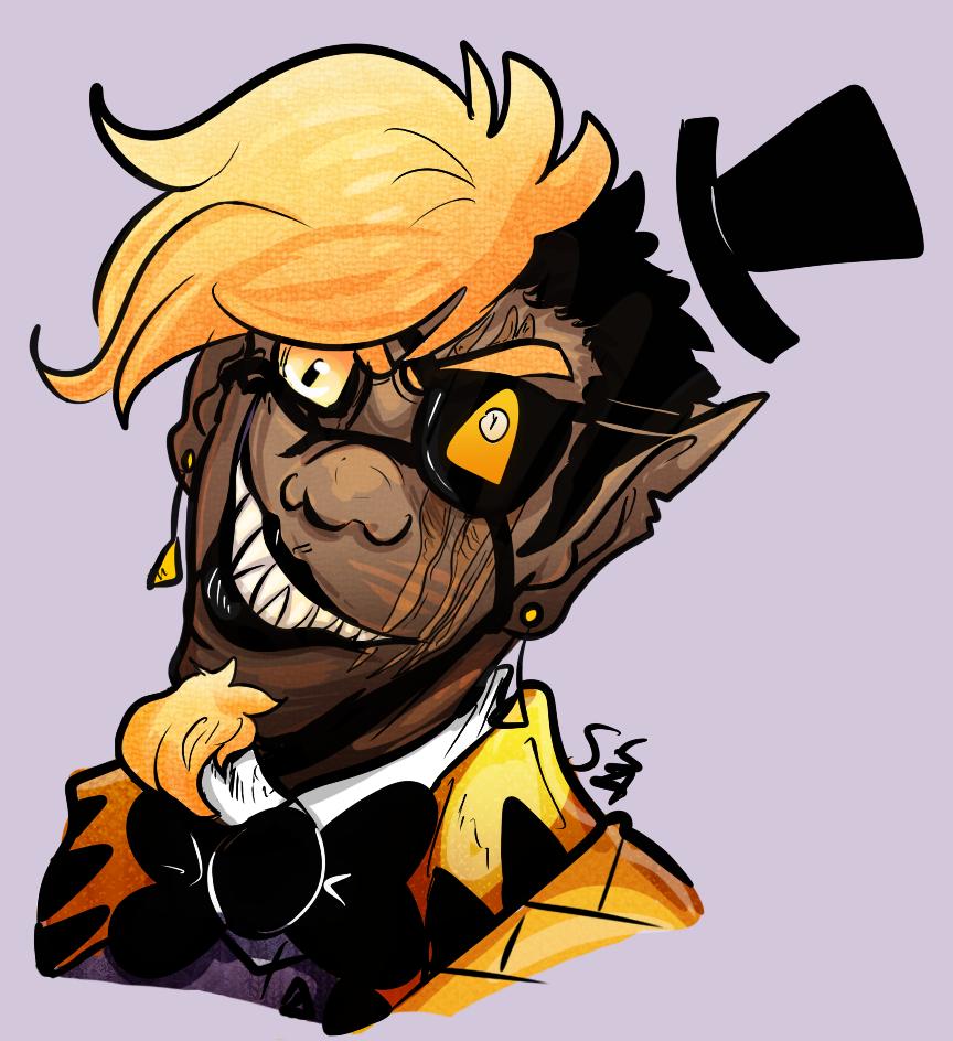 Demon in gold