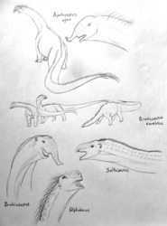 Speculative Sauropods (sketches)