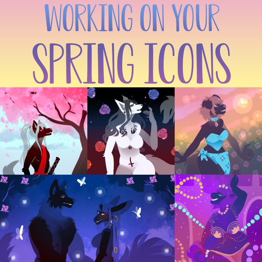 Jas is workin' on your spring icons!