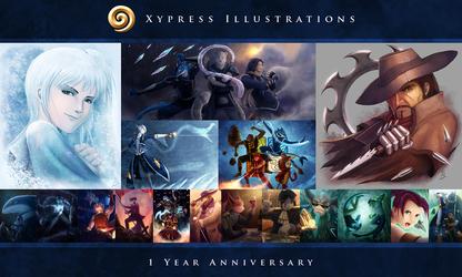Xypress Illustrations - 1 Year Anniversary