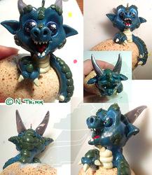 OOAK Xmas Ornament - Dragon Hatchling