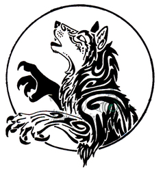 The Wolf in the Moon -tribal-