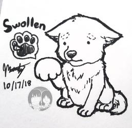 """Inktober 2018 - Day 17 """"Swollen"""""""