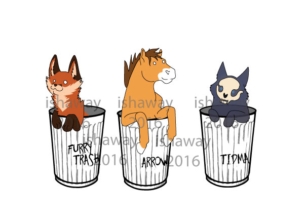 Because aren't we all furry trashcans?