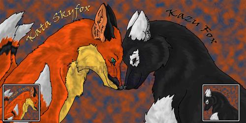 Fox Couple Icon Set