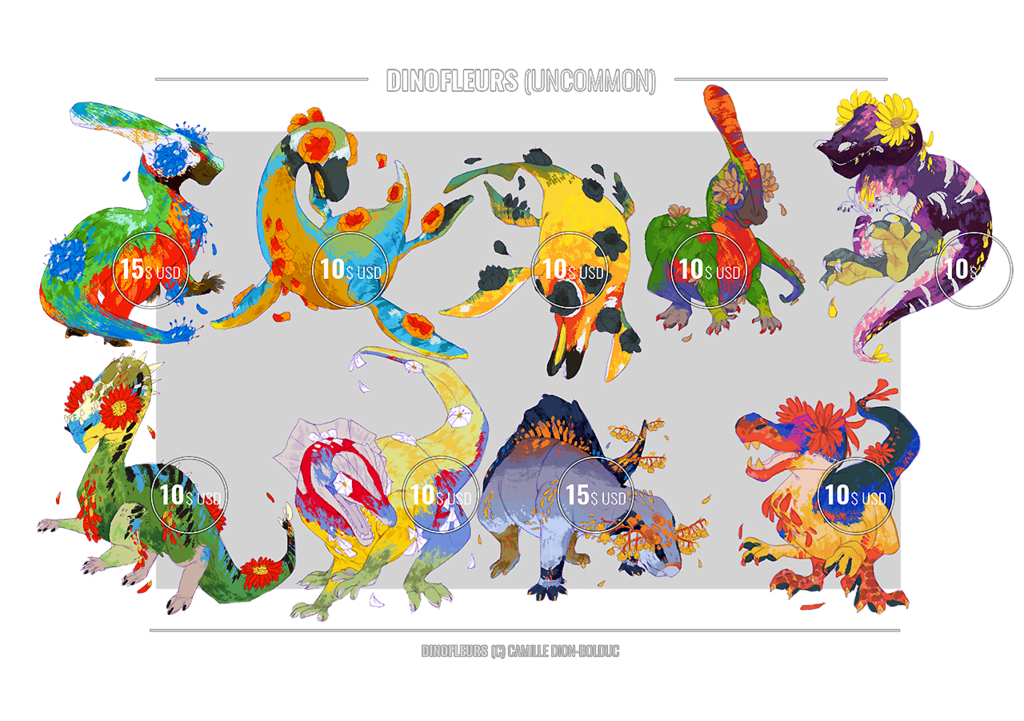 Dinofleurs (Uncommon 3) - Adoptables (Open!)