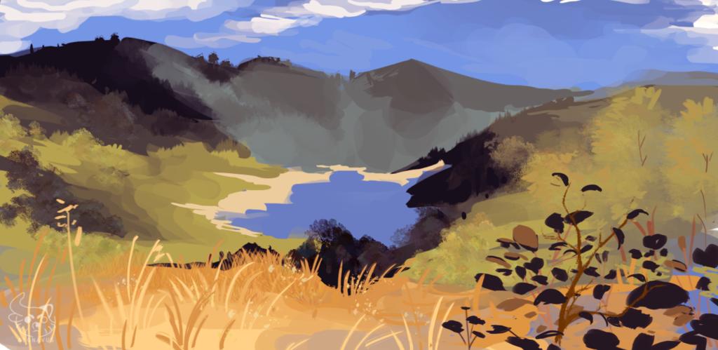 Lake in a Field