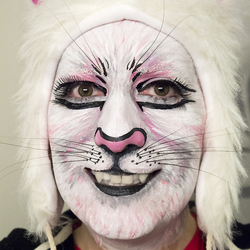 Simple White Cat Makeup First Try