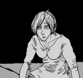Alex in new digs--sketch