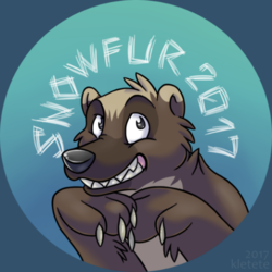 SnowFur 2017 - Button design