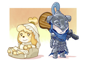 Isabelle the princess of sunlight and Totakeke Abysswalker