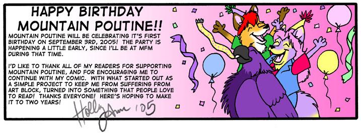 Mountain Poutine Birthday 2005