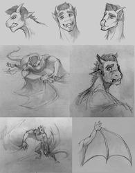 Design Sketches for Wyvern Gaius