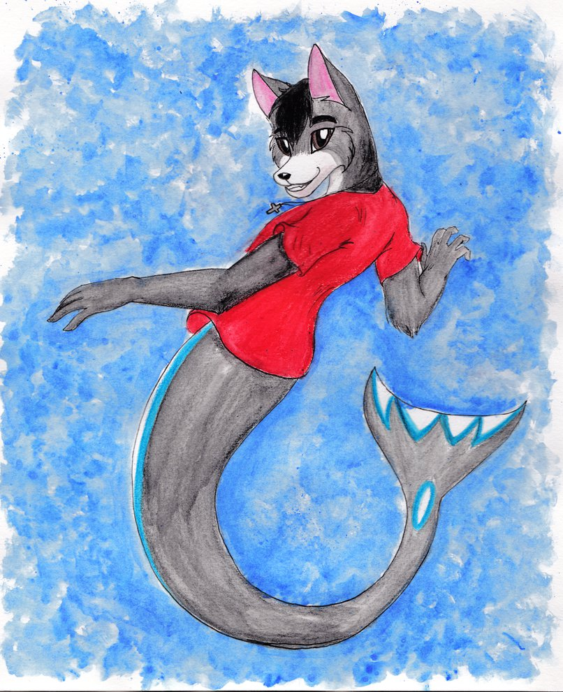 Red's merwolf swim