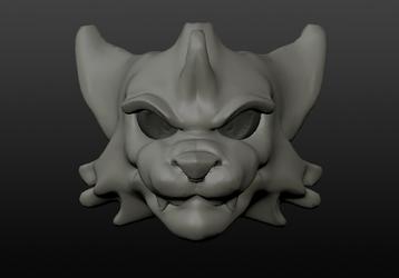 3D Sculpt Practice: Wolf [HEAVY WIP]