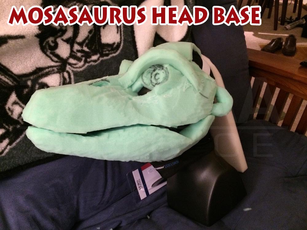 Mosasaur Head WIP