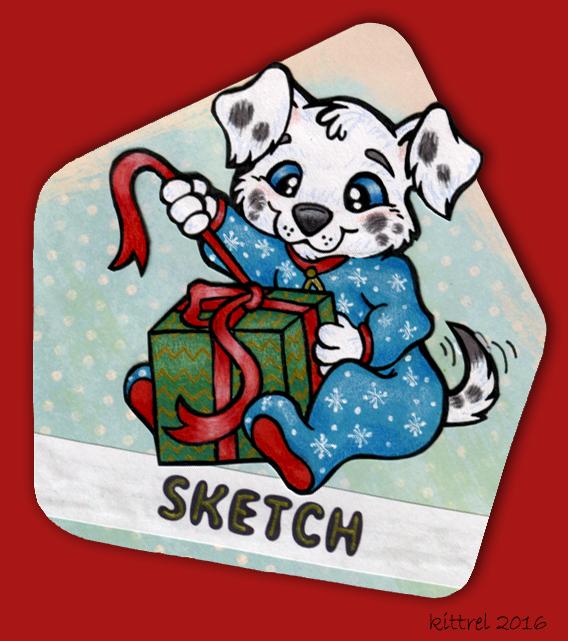 Sketch Christmas Badge