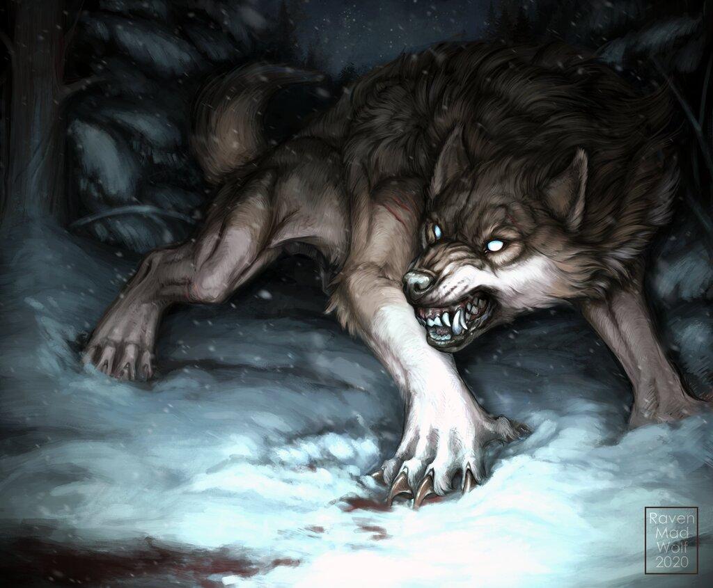 Werewolf Calendar: February by RavenMadWolf