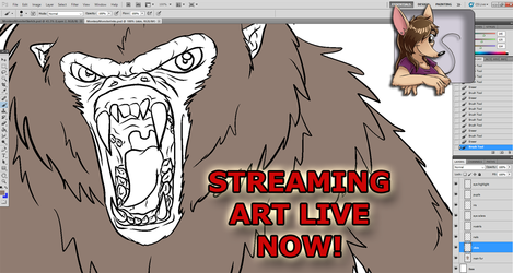 ART STREAM Flat Color Start for Video Game Monster: Monkey