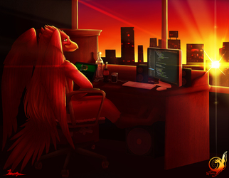 Ingwie Phoenix Watching the Sunset