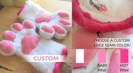 MADE TO ORDER White Handpaws With Pink Pawpads