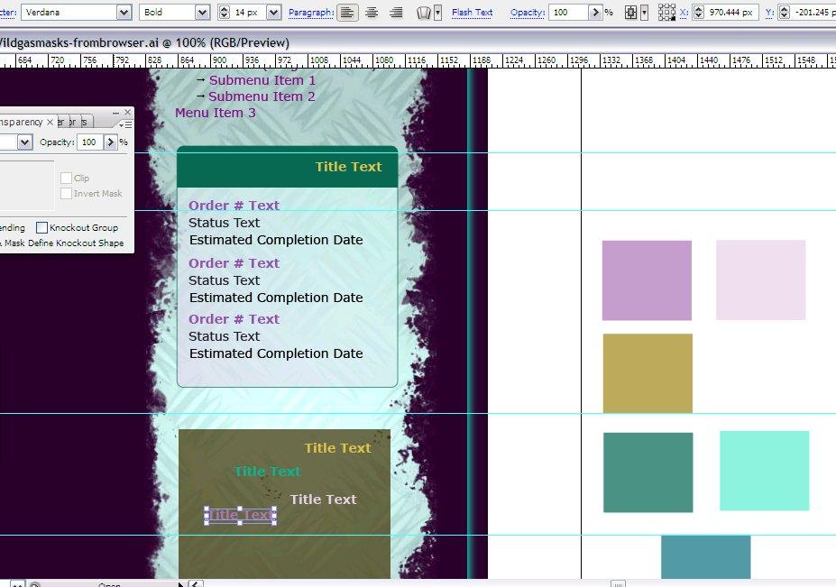 Wildgasmasks Site Redesign - Designing Sidebar