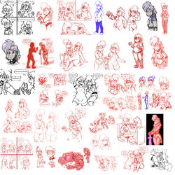 Sad Cyborgs Sketch Dump 1