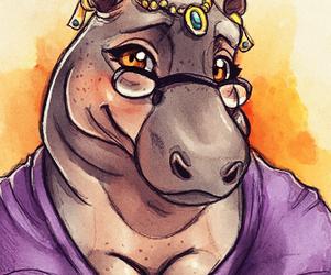 Bashful Hippo - Sketch