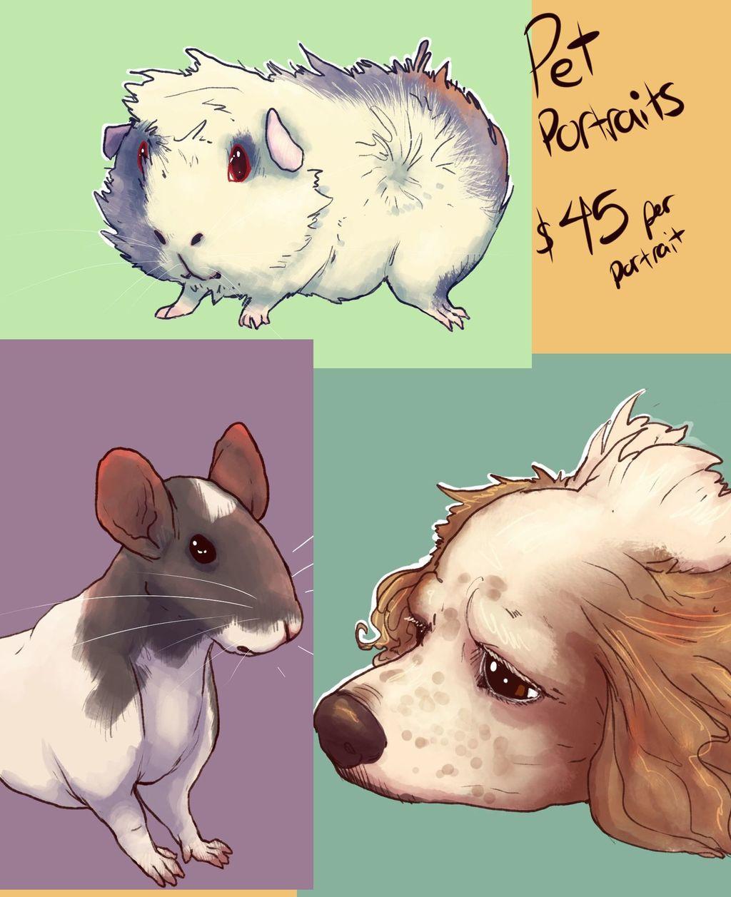 Most recent image: Pet Portrait Example Page