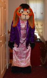 Peaches in a Chinese Gown