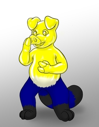 Yellow Pig Paint