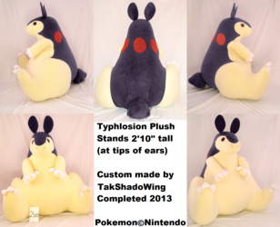 HUGE Typhlosion Plushie 2013