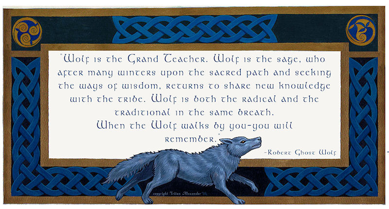 Celtic Wolf with Quote