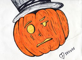 inktober #13: the ballad of peter pumpkinhead