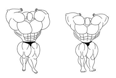 Pose Big Muscle Man
