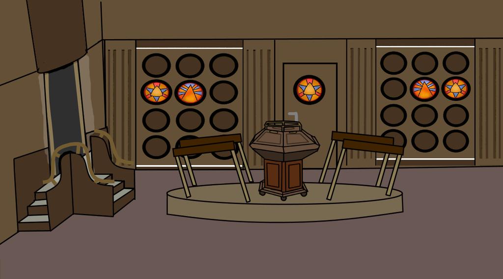 flash cartoon 1976 tardis console room
