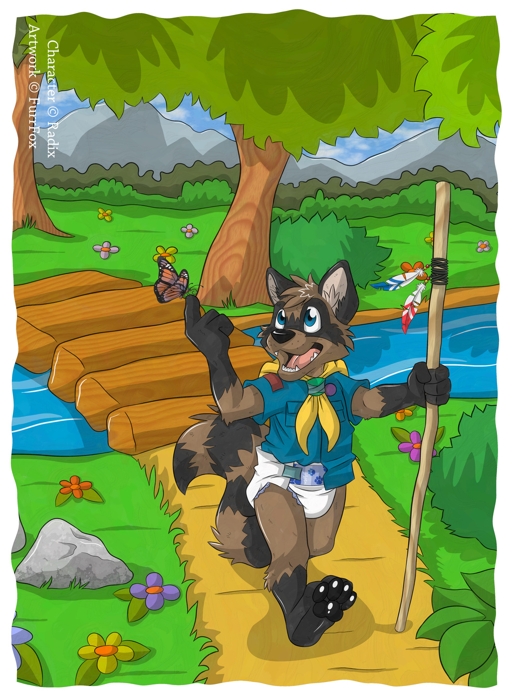 FurrFox Commission - Hiking