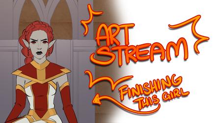 ART STREAM   Finishing this commission + Stuff