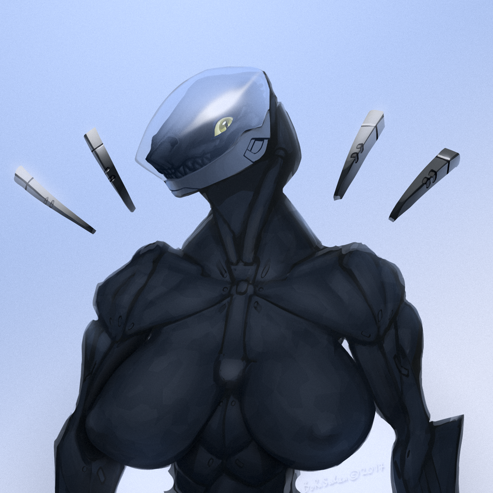 Cyborg TNA Bust