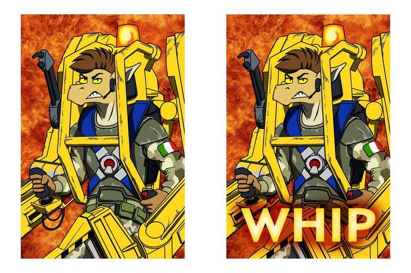ConFuzzled 2014 Powerloader Whip Badge