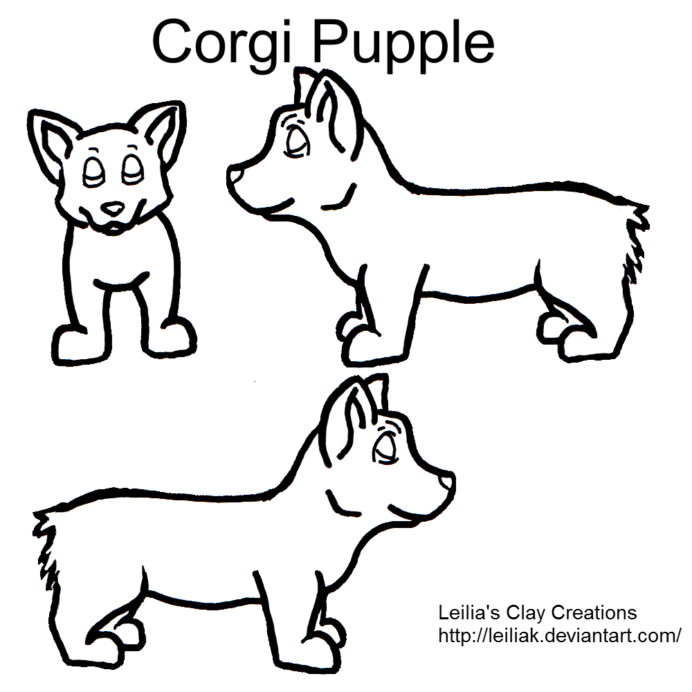 Corgi Pupple Contest Lineart