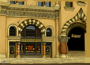 Old art: a bookstore
