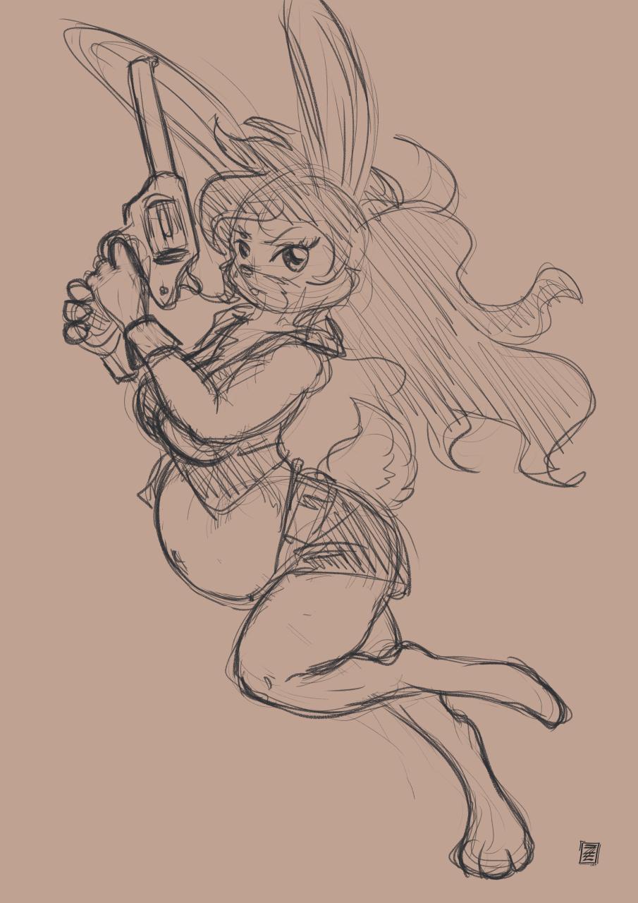 Bun bun with a gun